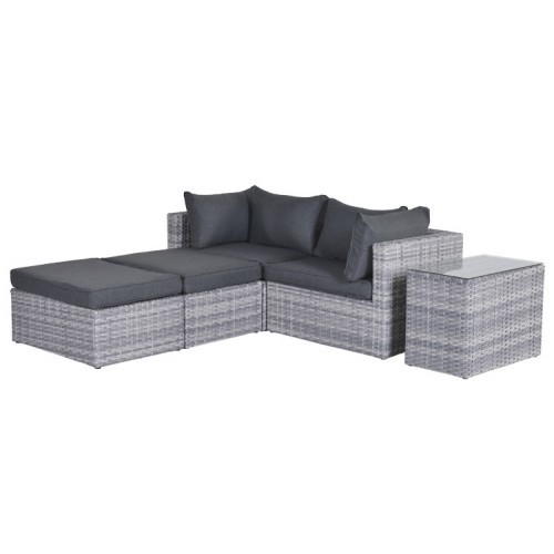 garda loungeset cloudy grey moderne loungeset voor uw balkon. Black Bedroom Furniture Sets. Home Design Ideas
