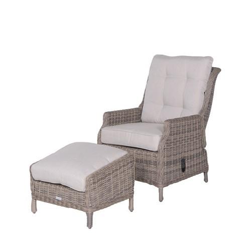 Donker Bruine Relax Stoel.Veracruz Relaxstoel Voetenbank Kwaliteit Van Garden Impressions