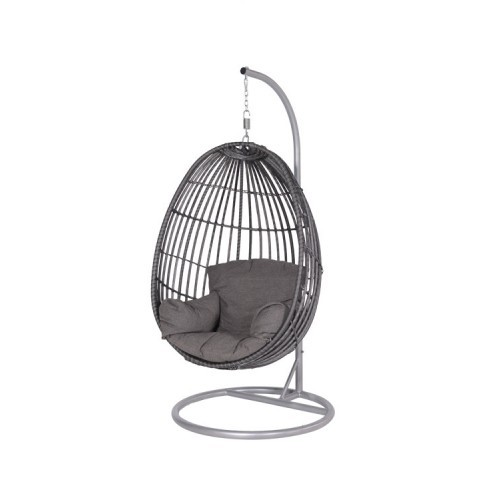 Swing Egg Stoel.Panama Swing Chair Egg Carbon Bl Earl Grey Dark Grey